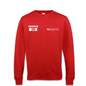 B&C Red Sweatshirt - Squeeze Box FRONT