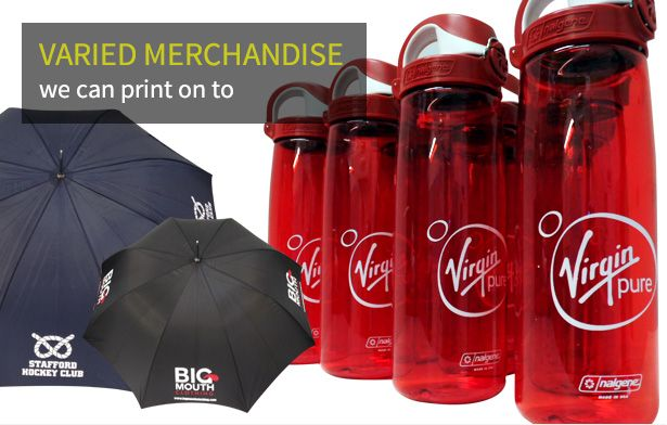 Varied Merchandise we can print to